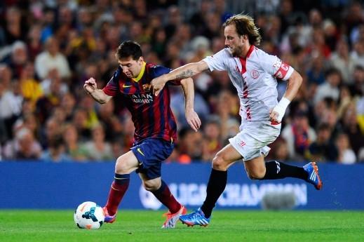 فوز برشلونة على اشبيلية - Getty Images
