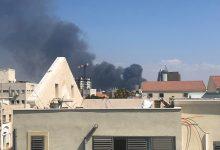 Photo of حريق كبير في مخزن للزيوت على مدخل ميناء حيفا